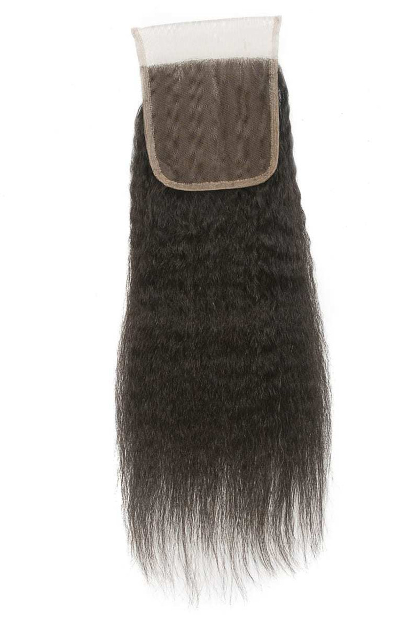 4 by 4 Closure Kinky Straight
