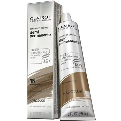 Clairol Soy4Plex Demi Permanent Tube #1N Neutral Black.