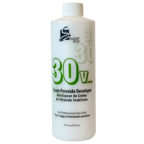 Super Star Cream Peroxide Developer 30 Volume 16 oz.
