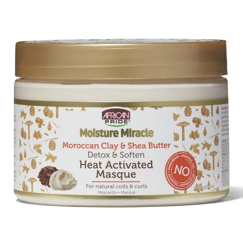 African Pride Moisture Miracle Detox & Soften Heat Activated Masque 12 oz.