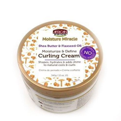 African Pride Moisture Miracle Moisturize & Define Curling Cream 12 oz.