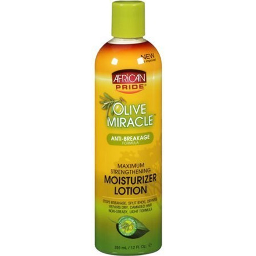 African Pride Olive Miracle Moisturizer Lotion 12 oz.