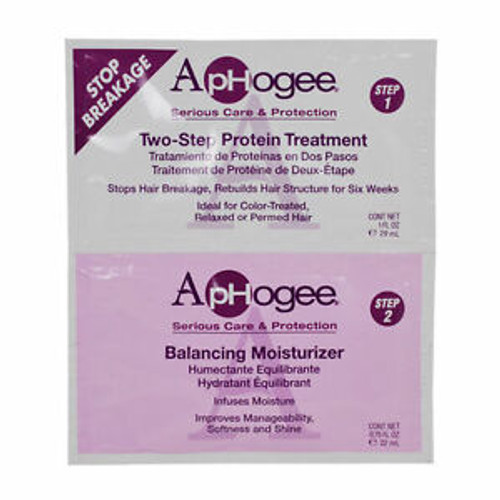 Aphogee Two-Stem Protein Treatment & Balancing Moisturizer 1.75 oz. oz.