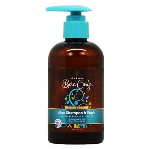 As I Am Born Curly Aloe Shampoo 8 oz.