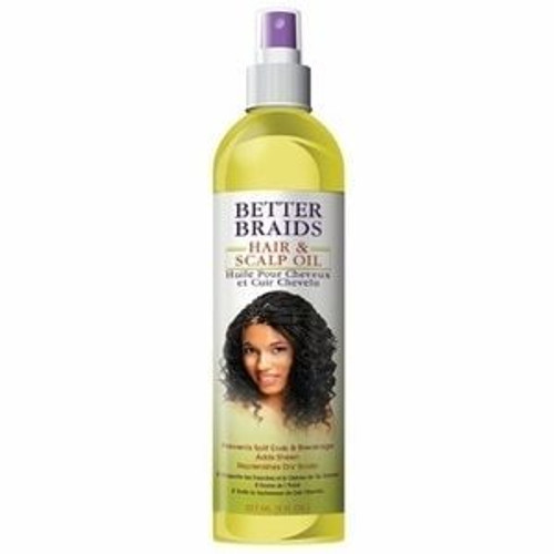 Better Braids Herbal Medicated Hair & Scalp Oil 8 oz.