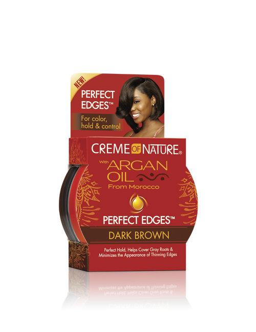 Creme of Nature Argan Oil Edge Gel Dark Brown 2.25 oz.