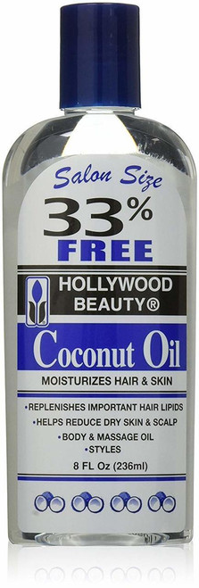 Hollywood Beauty Coconut Oil 8 oz.