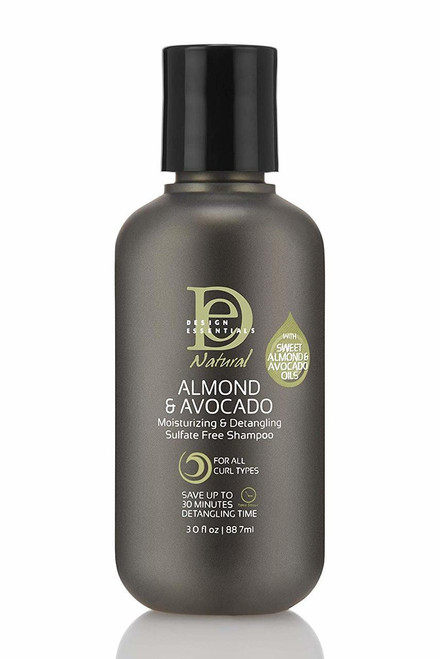 Design Essentials Natural Almond & Avocado Shampoo 3 oz.