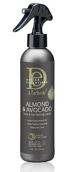 Design Essentials Natural Almond & Avocado Twist & Set Setting Lotion 8 oz.