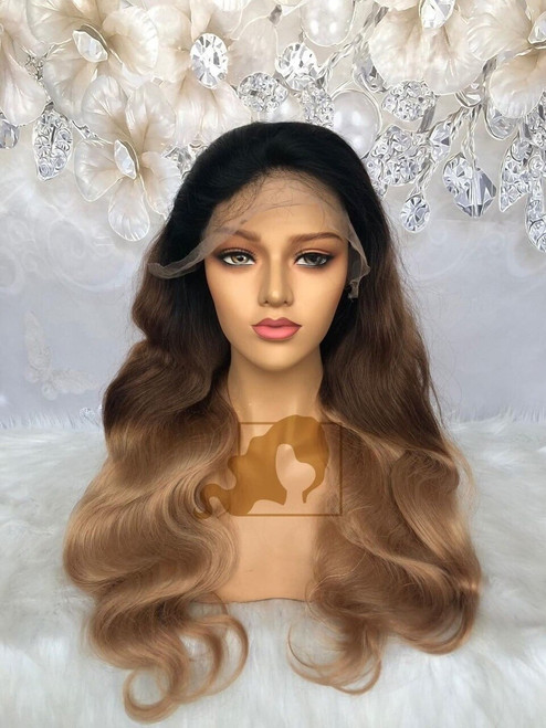 Full Lace Wig Ombre #2/27 Body wave