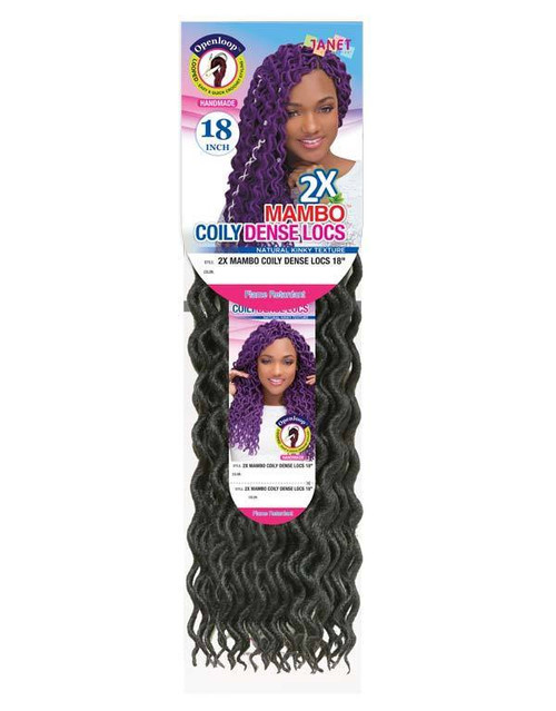 """Janet Collection 2X Mambo Coily Dense Loc 18"""""""