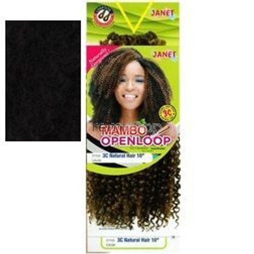 """Janet Collection 2X 3C Natural Hair 10"""""""