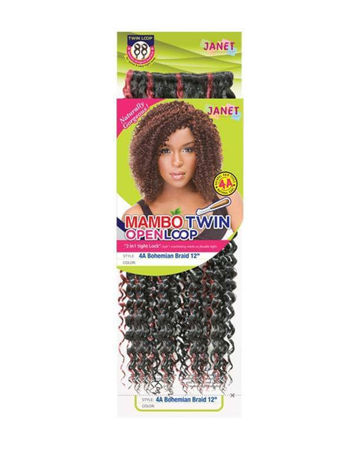 """Janet Collection 4A Bohemian Braid 12"""" (Twin Loop)"""