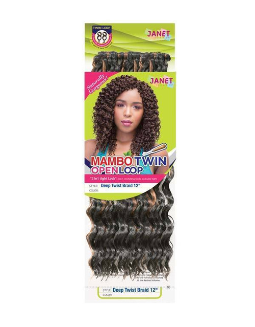 "Janet Collection Deep Twist Braid 12"" (Twin Loop)"