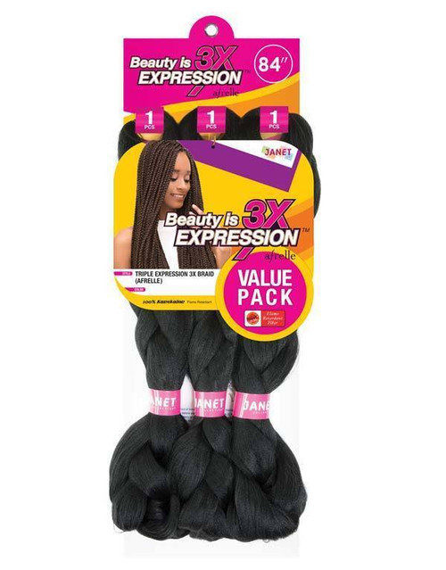 Janet Collection Expression 3X Braid (Afrelle:KN)