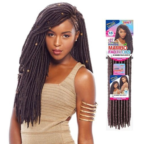 Janet Collection 2X Mambo Faux Locs 18""
