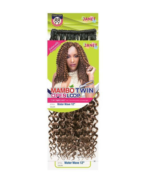 Janet Collection Water Wave Braid 12""