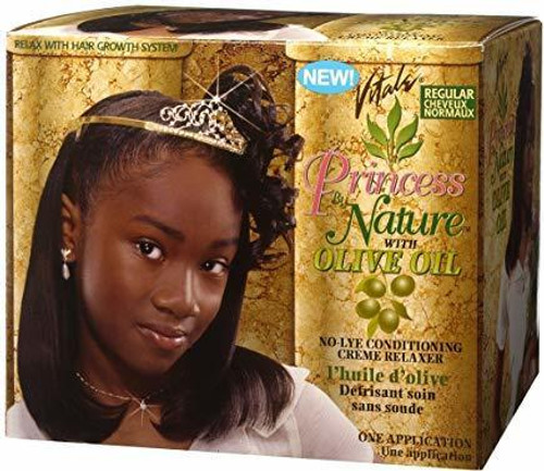 Vitale Princess by Nature with Olive Oil No-Lye Conditioning Creme Relaxer Regular