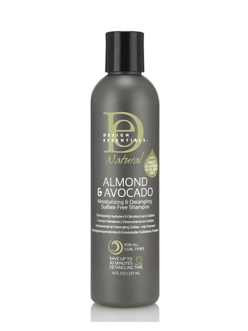 Design Essentials Natural Almond & Avocado Moisturizing & Detangling Sulfate Free Shampoo 8 oz.