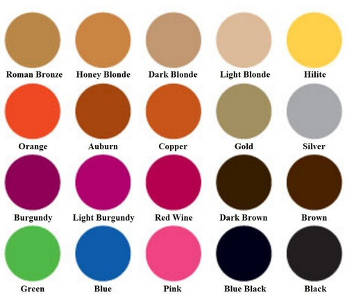 Jerome color spray chart