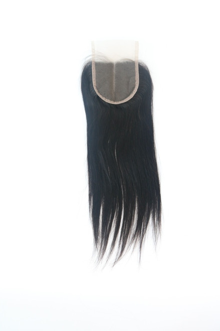 4 by 4 Closure Straight with Middle Part