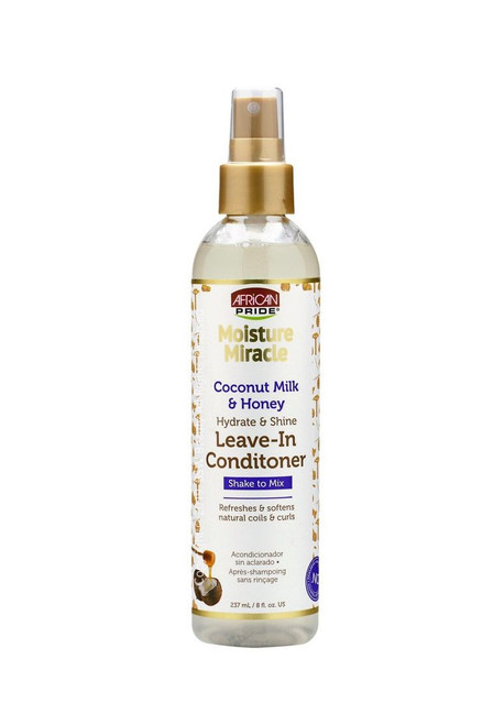 African Pride Moisture Miracle Hydrate & Shine Leave-In Conditioner 8 oz.