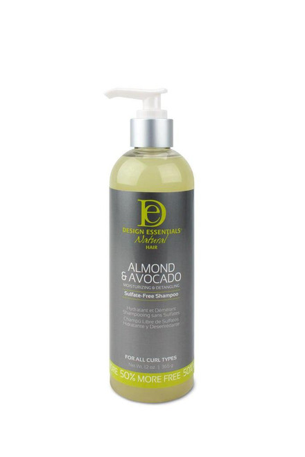 Design Essentials Natural Almond & Avocado Moisturizing & Detangling Sulfate Free Shampoo 12 oz.