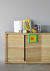 Sartore Light Oak Shadow Buffet Sideboard