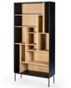 Oak Azura Black Storage Display Shelf