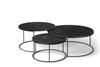 Teak Tabwa Round Nesting Coffee Table - Set of 3