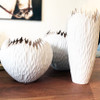 Tamarind Wood Stunning Organic Vase - White