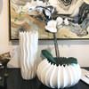 Neptune White Porcelain Vase Low