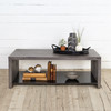 Concrete Boss Coffee Table with Metal Shelf