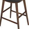 Luna Upholstered Saddle Black Oak Bar and Counter Stool