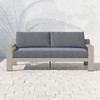 Hope Ranch Teak Outdoor Sofas - Weathered Grey