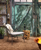 Alonso Organic Outdoor Teak Stool Table