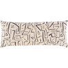 Graffiti Cream & Black Lumbar Pillow