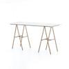 Eden Desk - Polished White Marble