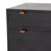 Travis Modular Filing Cabinet - Black + Leather Pulls