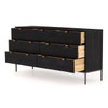 Cole 7 Drawer Dresser - Black Wash Poplar