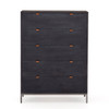 Trey 5 Drawer Dresser - Black Wash Poplar