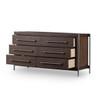 Evy 6 Drawer Dresser - Warm Brown