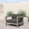 Kendra Outdoor Chair, Weathered Grey