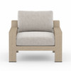 Hope Ranch Teak Outdoor Chair - Brown/Stone Grey