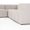Milagro Channeled 6-PC Laf Chaise Sectional