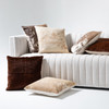 Harland Modern Hide Pillow, Tan, Set