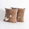 Harland Modern Hide Pillow, Brown, Set