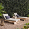 Royce Teak Outdoor Chaise - Washed Brown