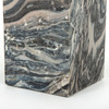 Phoebe Accent Table-Black Dune Marble