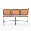 Ada Accent Bench - Caramel Leather